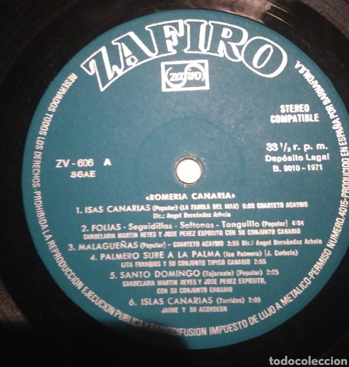 Discos de vinilo: Romería Canaria . Zafiro 1971 - Foto 3 - 201262531