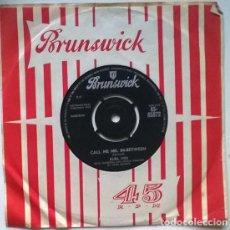 Discos de vinilo: BURL IVES. CALL ME MR. IN-BETWEEM/ WHAT YOU GONNA DO, LEROY?. BRUNSWICK, UK 1962 SINGLE. Lote 201265967