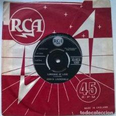 Disques de vinyle: JOHN D. LOUDERMILK. LANGUAGE OF LOVE/ DARLING JANE. RCA, UK 1961 SINGLE. Lote 201268657