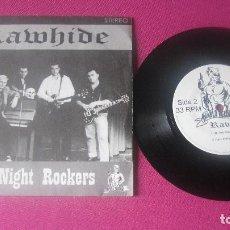 Discos de vinilo: RAWHIDE ALL NIGHT ROCKERS VINILO 1997 MA25. Lote 201309585