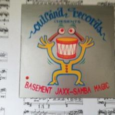 Discos de vinilo: BASEMENT JAXX-SAMBA MAGIC. MAXI. Lote 201309945
