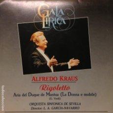 Discos de vinilo: ALFREDO KRAUS RIGOLETTO GALA LIRICA LA DONNA E MOBILE ORQUESTA SINFONICA DE SEVILLA. Lote 201326008