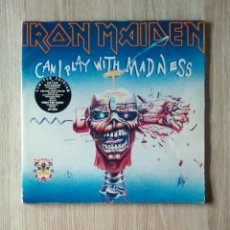 Discos de vinilo: IRON MAIDEN ‎– CAN I PLAY WITH MADNESS · THE EVIL THAT MEN DO, EMI ‎– IRN 9, 2 × VINYL, 12P, 33 ⅓. Lote 201366052