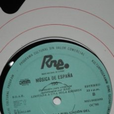 Discos de vinilo: MÚSICA DE ESPAÑA 190 RNE. CENTENARIO DE LA PUBLICACIÓN DEL CANCIONERO DE PALACIO. Lote 201366712