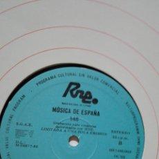 Discos de vinilo: MÚSICA DE ESPAÑA 148. RNE TRANSCRIPCIONES. EL COMPOSITOR JOSE RAMON ENCIMAR.. Lote 201368042