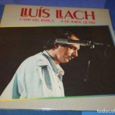 Discos de vinilo: DESDE DOS EUROS DOBLE LP EN BUEN ESTADO LLUIS LLACH CAMP DEL BARÇA 6 JULIOL 85 BUEN ESTADO. Lote 201368358