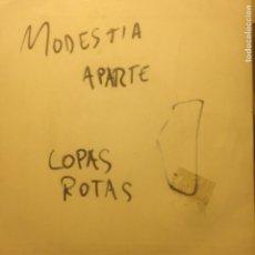 Discos de vinilo: MODESTIA APARTE - COPAS ROTAS. Lote 201372215
