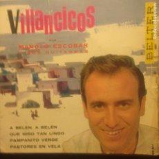 Discos de vinilo: MANOLO ESCOBAR - VILLANCICOS. Lote 201373022
