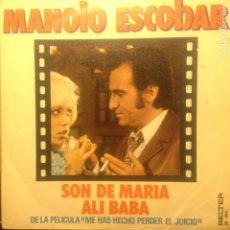 Discos de vinilo: MANOLO ESCOBAR SON DE MARIA. Lote 201373227