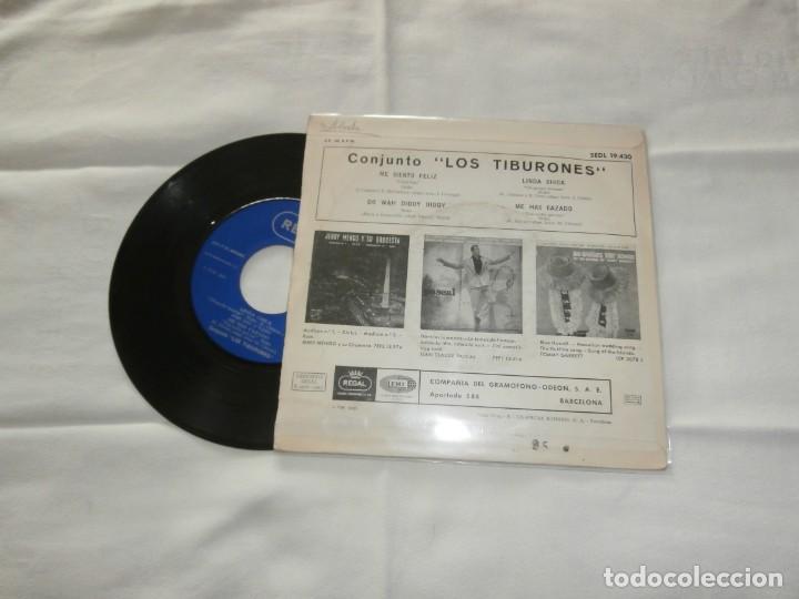 Discos de vinilo: LOS TIBURONES 7´EP ME SIENTO FELIZ + 3 TEMAS (1965) BUENA CONDICION **RARO** - Foto 2 - 201475128