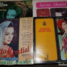 Disques de vinyle: SARA MONTIEL.LA REINA DEL CHANTECLER.VARIETES.PECADO DE AMOR.LA DAMA DE BEIRUT. PACK 4 LP´S. Lote 201480115