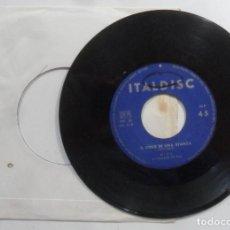 Discos de vinilo: SINGLE - MINA - A: IL CIELO IN UNA STANZA - B: LA NOTTE - ITALDISC. Lote 201495032
