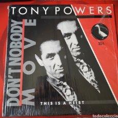 Discos de vinilo: TONY POWERS - EP 33 RPM VINILO DON'T NOBODY MOVE - USA 1984. KISS ODYSSEY THE ELDER RARO!!. Lote 201516871