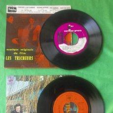 Discos de vinilo: LOTE DOS SINGLES- STAN GETZ / DIZZY GILLESPIE / MUSIQUE DU FILM LES TRICHEURS AÑO 1961 (VER FOTOS). Lote 201517342