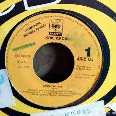 Discos de vinilo: KRIS KROSS – WARM IT UP PROMO, SPAIN 1992 . Lote 201518676
