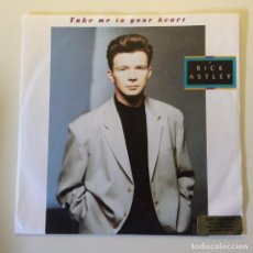 Discos de vinilo: RICK ASTLEY – TAKE ME TO YOUR HEART / I'LL BE FINE EU 1988 RCA. Lote 201518831