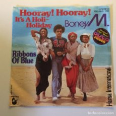 Discos de vinilo: BONEY M. ?– HOORAY! HOORAY! IT'S A HOLI-HOLIDAY / RIBBONS OF BLUE GERMANY 1979 HANSA INTERNAT.. Lote 201524325