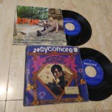 Discos de vinilo: JORGE-LOTE DOS DISCOS-UN EP Y UN SINGLE. Lote 201530688