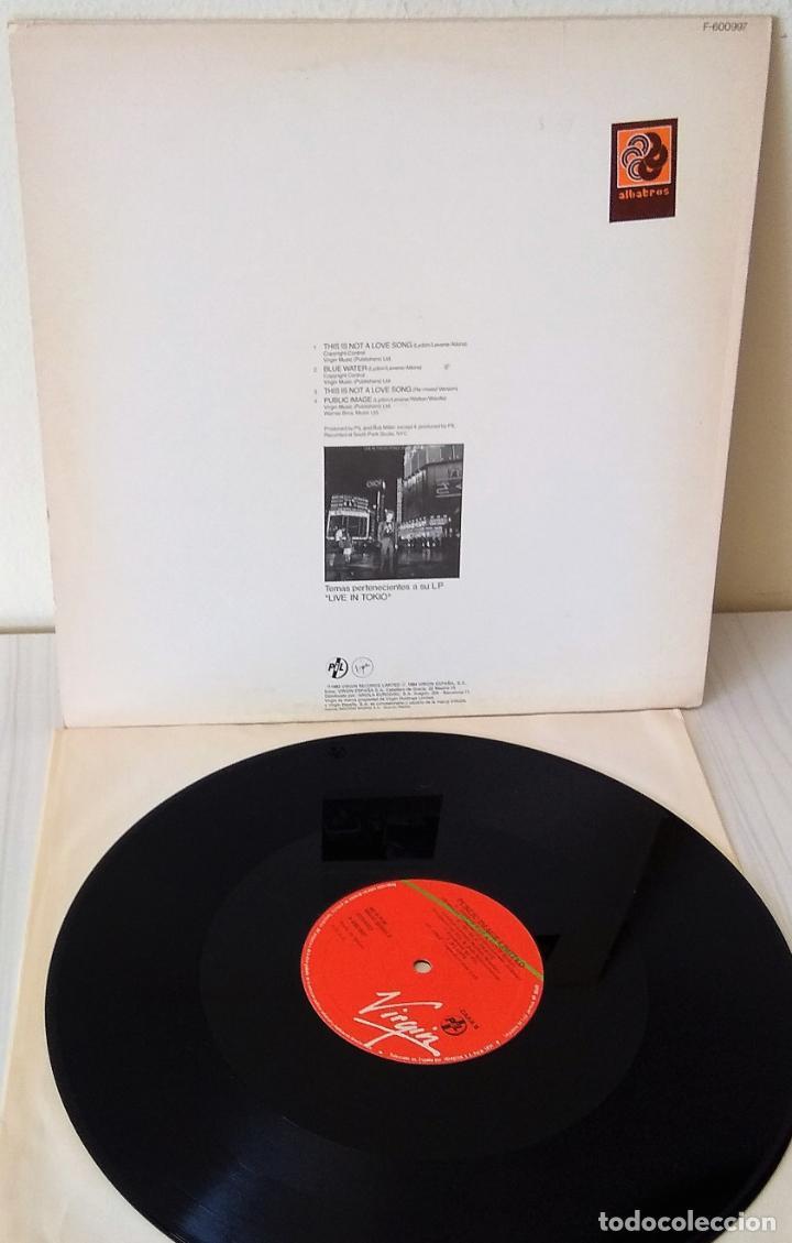 Discos de vinilo: PUBLIC IMAGE LIMITED - THIS IS NOT A LOVE SONG MAXI VIRGIN - 1983 - Foto 2 - 201532021