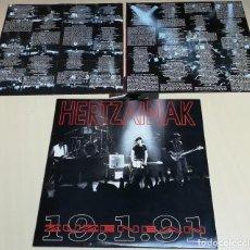 Discos de vinilo: HERTZAINAK LP DOBLE -ZUZENEAN 19.1.91- (1991). Lote 201534292