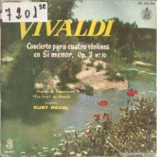 Discos de vinil: VIVALDI - CONCIERTO PARA CUATRO VIOLINES EN SI MENOR (SPAIN, DISCOS ERATO 1960). Lote 201538561