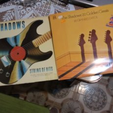 Discos de vinilo: THE SHADOWS 20 GOLDEN GREATS Y STRING OF HITS. TRES LPS. Lote 201547886