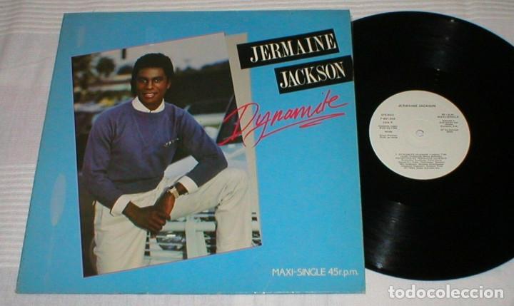 JERMAINE JACKSON SPAIN MAXI SINGLE 1984 DYNAMITE ELECTRONIC SYNTH DISCO POP ARISTA PROMOCIONAL MIRA (Música - Discos de Vinilo - Maxi Singles - Funk, Soul y Black Music)