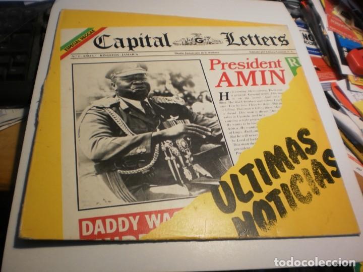 LP CAPITAL LETTERS. ÚLTIMAS NOTICIAS. EDIGSA 1980 SPAIN (PROBADO Y BIEN, BUEN ESTADO) (Música - Discos - LP Vinilo - Reggae - Ska)