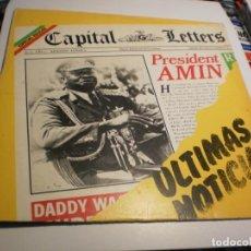 Discos de vinilo: LP CAPITAL LETTERS. ÚLTIMAS NOTICIAS. EDIGSA 1980 SPAIN (PROBADO Y BIEN, BUEN ESTADO). Lote 201617531