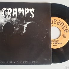 Discos de vinilo: SINGLE THE CRAMPS - SURFIN' BIRD +1 (US - VENGEANCE - 19??) EDICION BOOTLEG. Lote 201620577