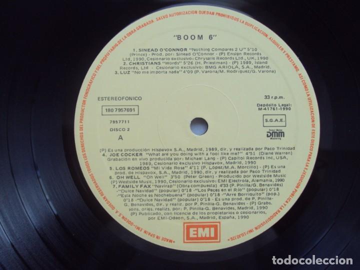 Discos de vinilo: ¡BOOM! 6. DOBLE LP EDICION ESPAÑOLA 1990 EMI-ODEON - Foto 5 - 201656860