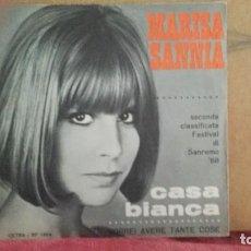 Discos de vinilo: ** MARISA SANNIA - CASA BIANCA - MADE IN ITALY - SG AÑO 1968 (FESTIVAL SANREMO) - LEER DESCRIPCIÓN. Lote 201663726