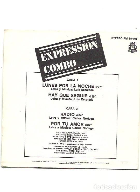 Discos de vinilo: EXPRESSION COMBO. Lunes por la noche (vinilo ep 1984) - Foto 2 - 201670895