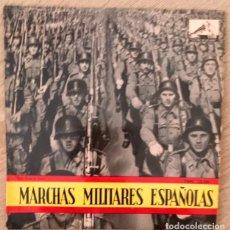 Discos de vinilo: MARCHAS MILITARES ESPAÑOLAS - EL NOVIO DE LA MUERTE, LEGIONARIOS Y REGULARES - 1958. Lote 212242666
