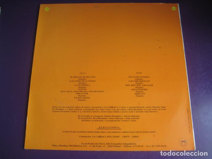 Discos de vinilo: LA CARRACA LP SAGA 1985 - LAS HISTORIAS DEL ABUELO MILCUENTOS - CUENTOS Y CANCIONES - INFANTIL 80S - Foto 2 - 201674585
