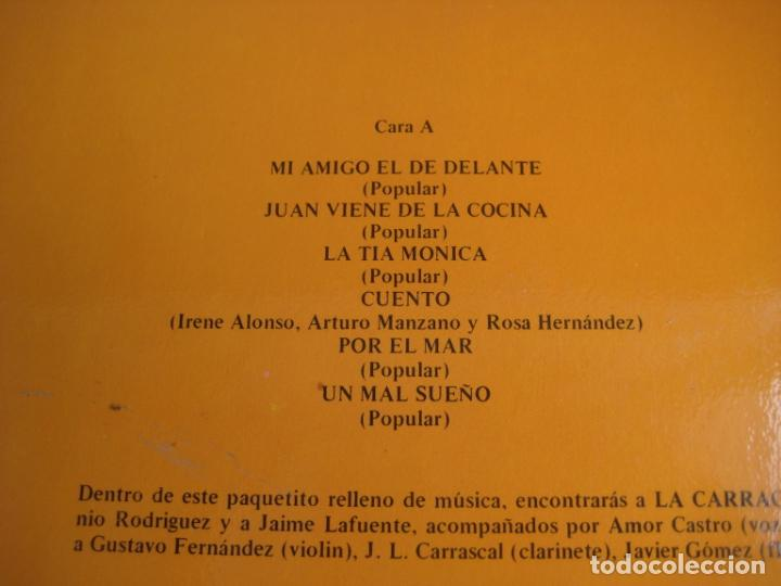 Discos de vinilo: LA CARRACA LP SAGA 1985 - LAS HISTORIAS DEL ABUELO MILCUENTOS - CUENTOS Y CANCIONES - INFANTIL 80S - Foto 3 - 201674585