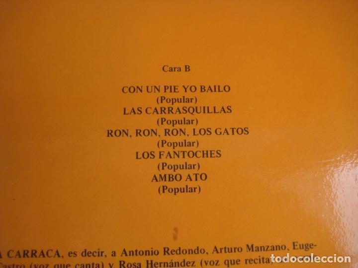 Discos de vinilo: LA CARRACA LP SAGA 1985 - LAS HISTORIAS DEL ABUELO MILCUENTOS - CUENTOS Y CANCIONES - INFANTIL 80S - Foto 4 - 201674585