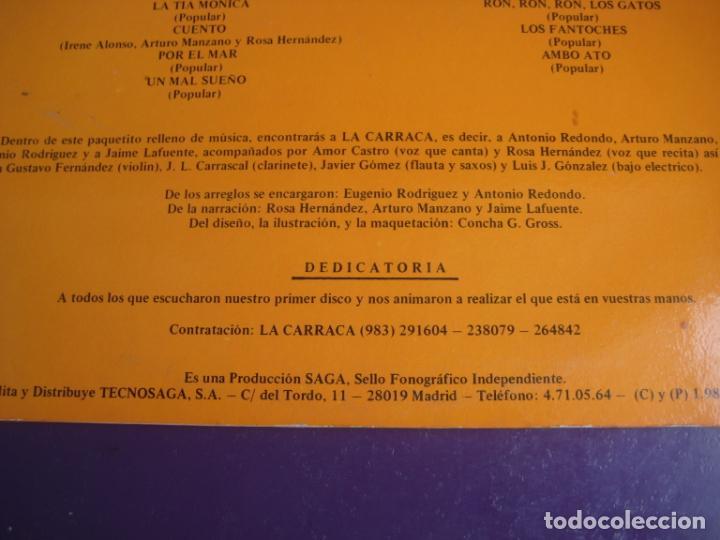 Discos de vinilo: LA CARRACA LP SAGA 1985 - LAS HISTORIAS DEL ABUELO MILCUENTOS - CUENTOS Y CANCIONES - INFANTIL 80S - Foto 5 - 201674585