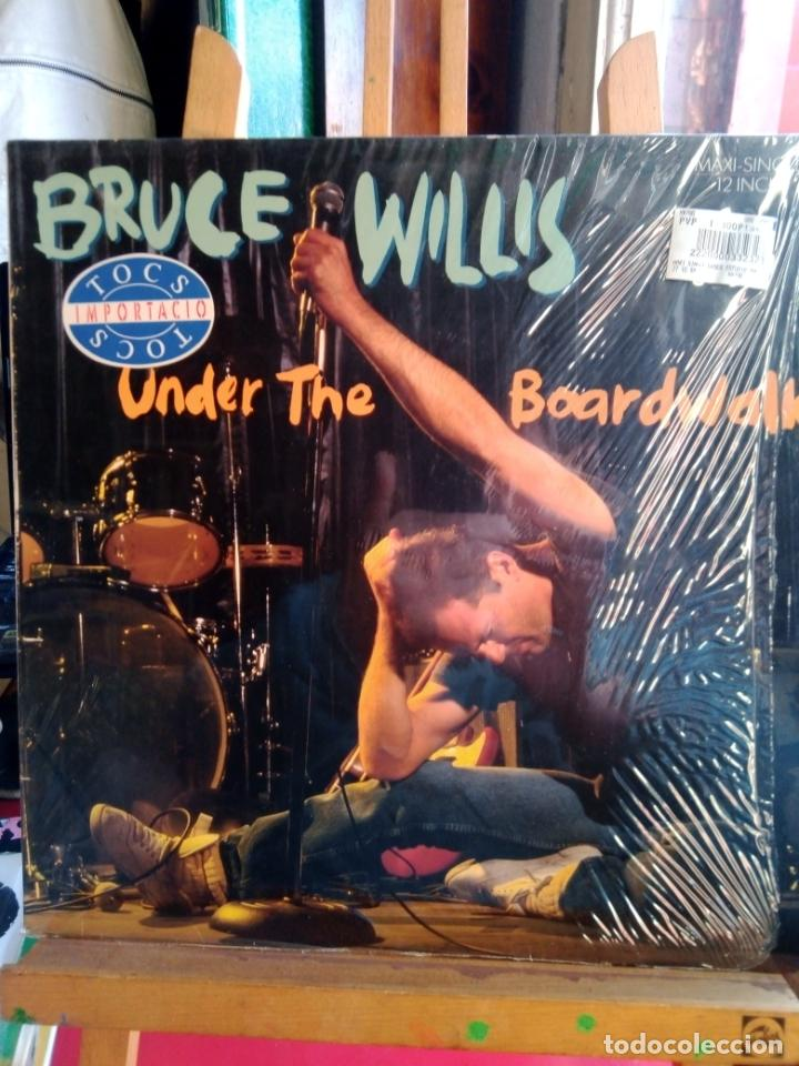 BRUCE WILLIS -UNDER THE BOADRWALK-MAXI-SINGLE- (Música - Discos de Vinilo - Maxi Singles - Bandas Sonoras y Actores)