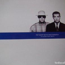 Discos de vinilo: PET SHOP BOYS - THE COMPLETE SINGLES COLLECTION - 2 LPS - EMI RECORDS 1991. Lote 201689130