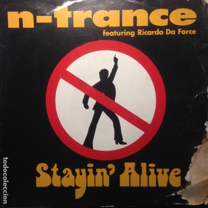 N-TRANCE FEAT. RICARDO DA FORCE - STAYIN' ALIVE - MAXI - 1995 - 2 VERSIONS (Música - Discos de Vinilo - Maxi Singles - Disco y Dance)