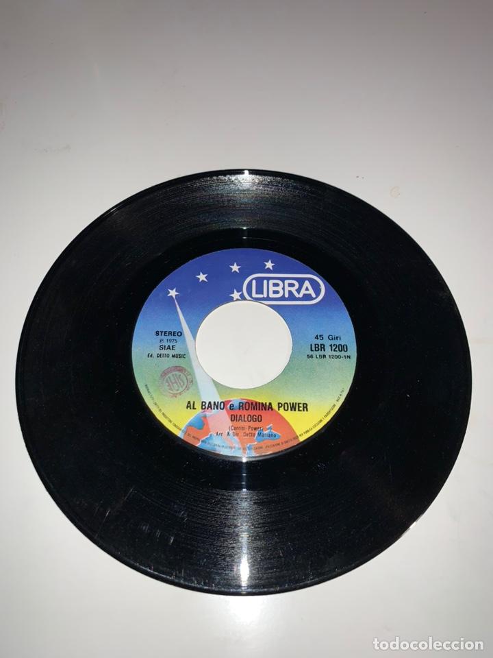 Discos de vinilo: Al bano y Romina power diálogo single sello libra 1975 - Foto 5 - 201705081