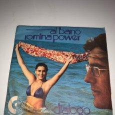 Discos de vinilo: AL BANO Y ROMINA POWER DIÁLOGO SINGLE SELLO LIBRA 1975. Lote 201705081