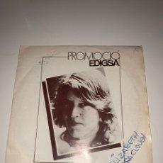 Discos de vinilo: ELIZABETH BARRACLOUGH WILLY RUBY / LATE IN MY BED/ PROMO ESPAÑOL 1980. Lote 201705340