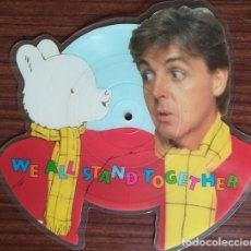 Discos de vinilo: PAUL MCCARTNEY AND THE FROG CHORUS – WE ALL STAND TOGETHER SHAPE (RECORTADO) PICTURE DISC SINGLE #. Lote 201713252