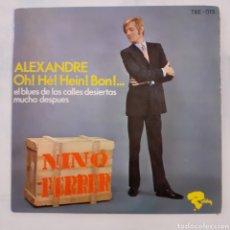 Disques de vinyle: NINO FERRER. ALEXANDRE... RIVIERA TRE-015. 1966 ESPAÑA. FUNDA VG++. DISCO VG++. Lote 201714965
