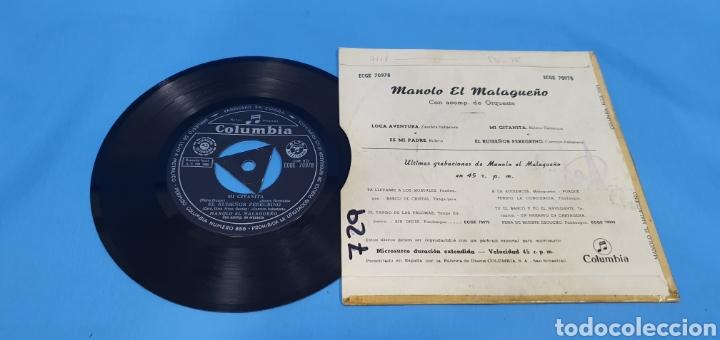 Discos de vinilo: Disco de vinilo single manolo el malagueño loca aventura, Columbia - Foto 2 - 201732270