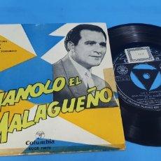 Discos de vinilo: DISCO DE VINILO SINGLE MANOLO EL MALAGUEÑO LOCA AVENTURA, COLUMBIA. Lote 201732270
