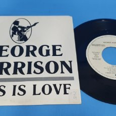 Discos de vinilo: DISCO DE VINILO SINGLE PROMOCIONAL GEORGE HARRISON THIS IS LOVE. WB.. Lote 201739226