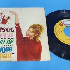 Discos de vinilo: DISCO DE VINILO SINGLE MARISOL CANTA EL HIMNO DE LOS AMIGOS DE MARISOL. ED. BRUGUERA . 1963. Lote 201740545